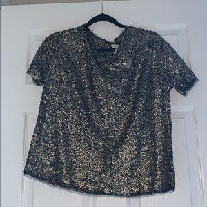 Gold sequin blouse